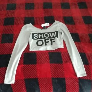 """Show Off"" Long-Sleeved Crop Top"